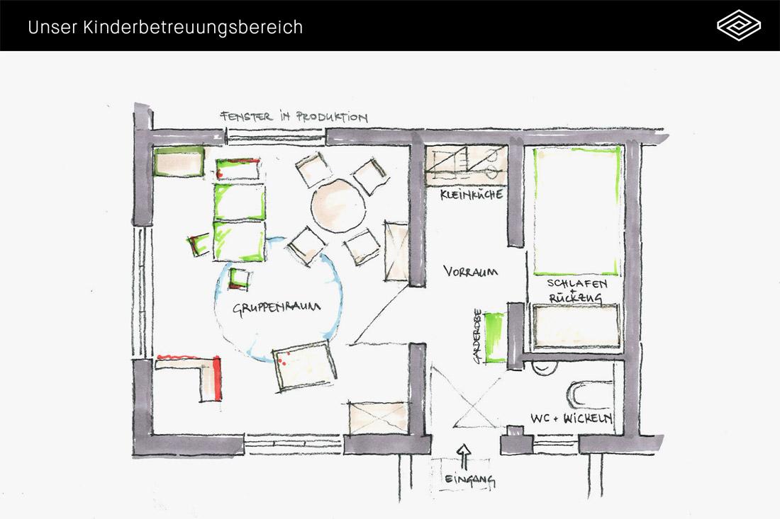 Plan unseres Betriebskindergartens