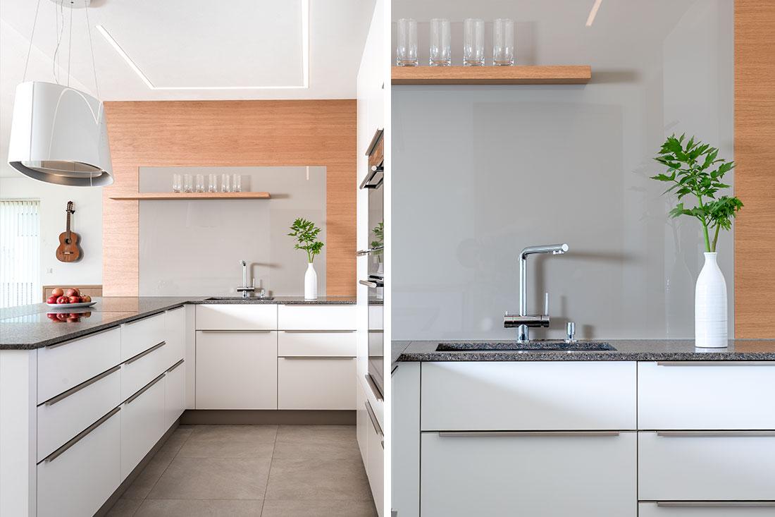 Moderne Kücheneinrichtung mit praktischem Waschbecken und Edelstahl-Armaturen