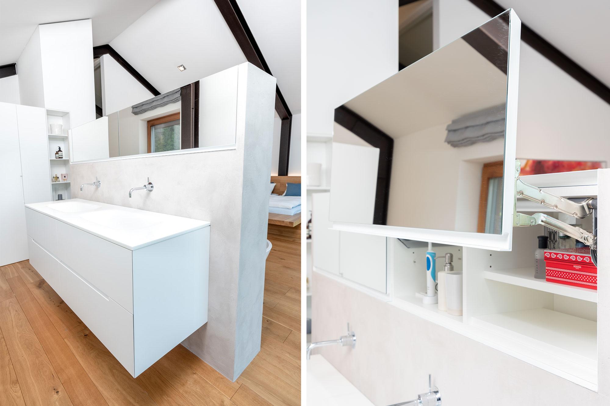 Intelligentes Möbelstück im Sanitärbereich