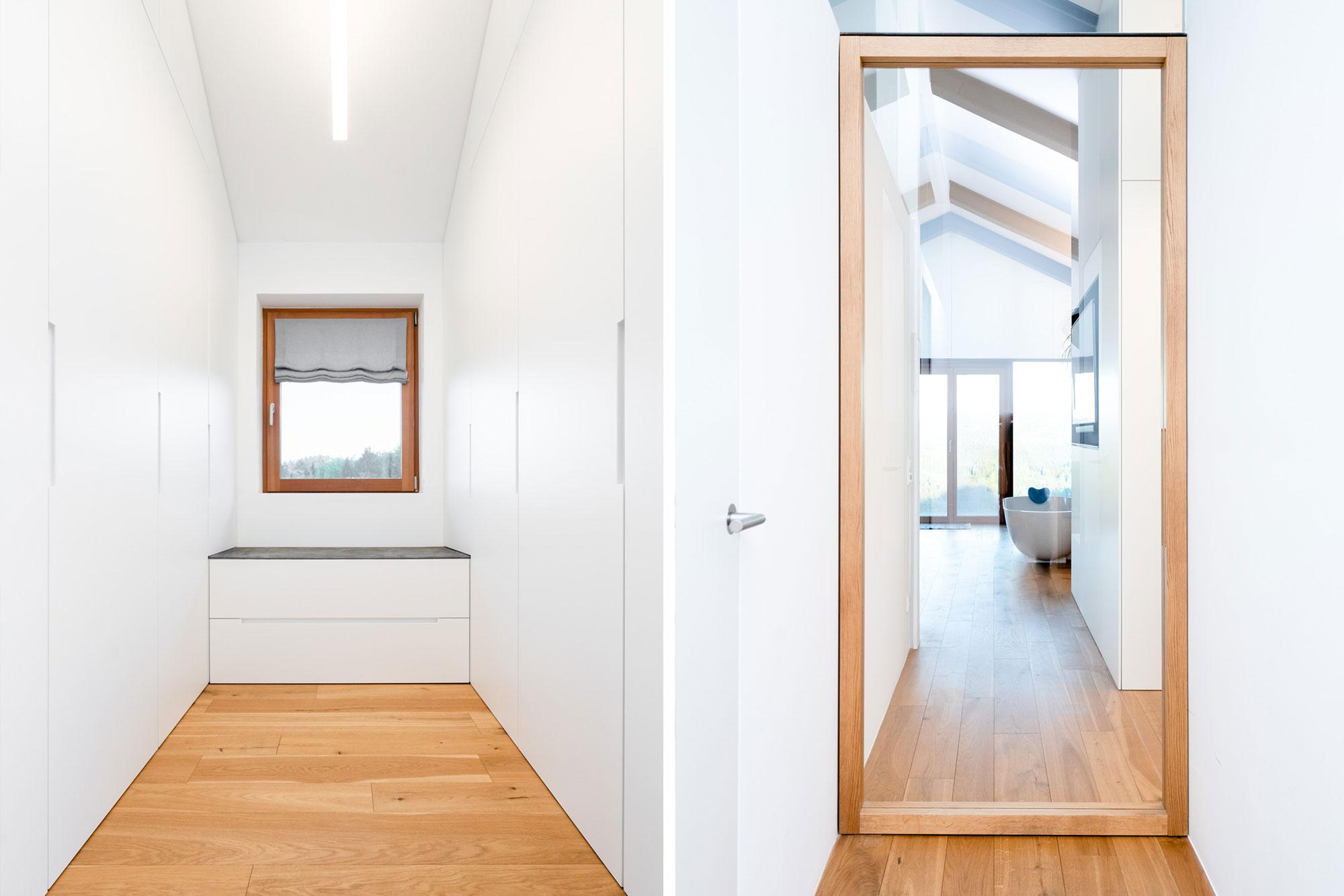 Raumhohe Einbauschränke und Türe